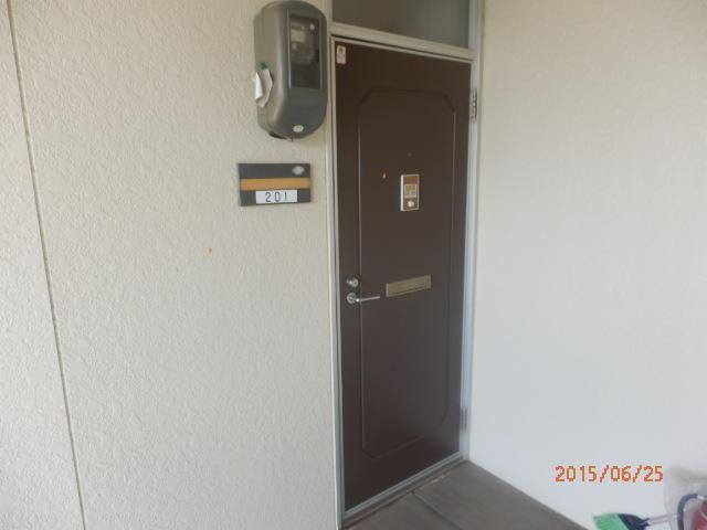 グリーンハイツ安座Ⅱ 201号室の玄関