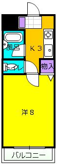 ラ・フォーレ桜ケ丘・102号室の間取り