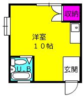 ハウス・ヨダ 104号室の間取り