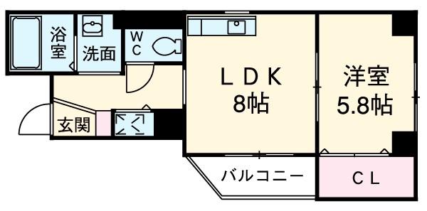 ソルトシティ浜松 608号室の間取り