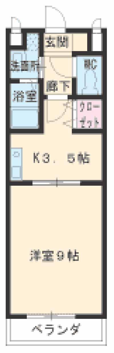 Lani Kai Park・807号室の間取り