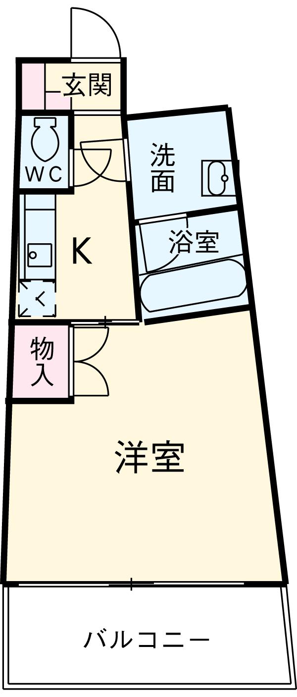 カーサヨサミ・113号室の間取り