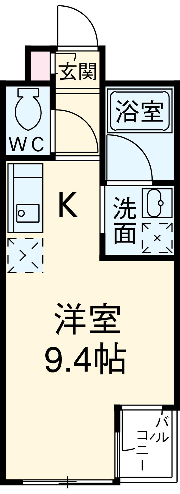シャトーヨサミ 222号室の間取り