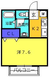 フローラNAKAJIMA・102号室の間取り