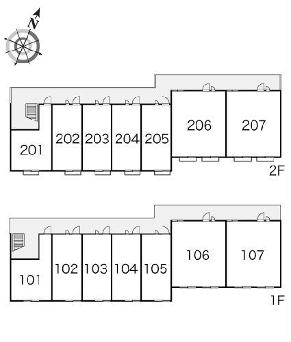 レオパレスバンビーノ花輪 104号室のその他