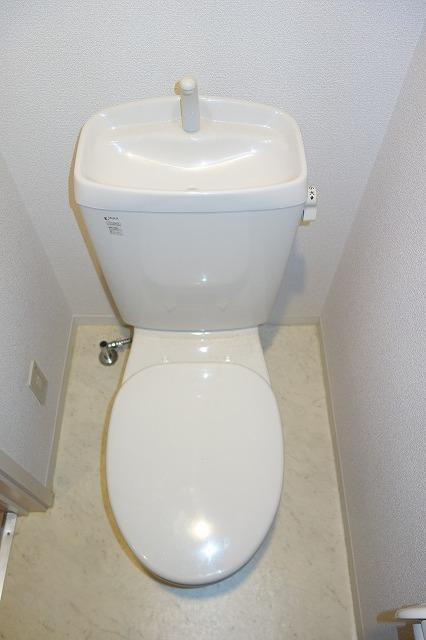 クレフラスト高丘A 102号室のトイレ