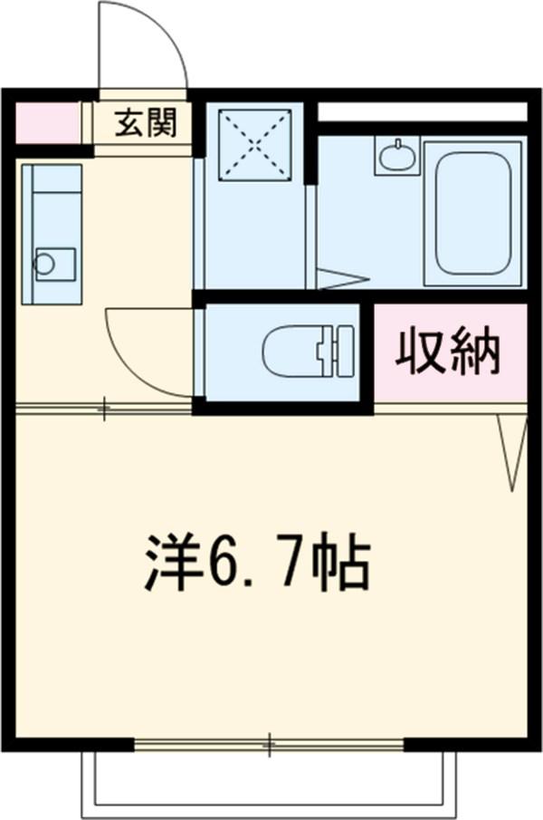 コースト京葉・201号室の間取り