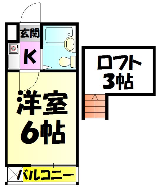ジュネパレス新検見川第01 201号室の間取り