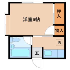 パラディーゾ四街道B棟 101号室間取り図