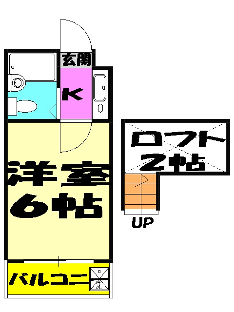 ジュネパレス新検見川第01 102号室の間取り