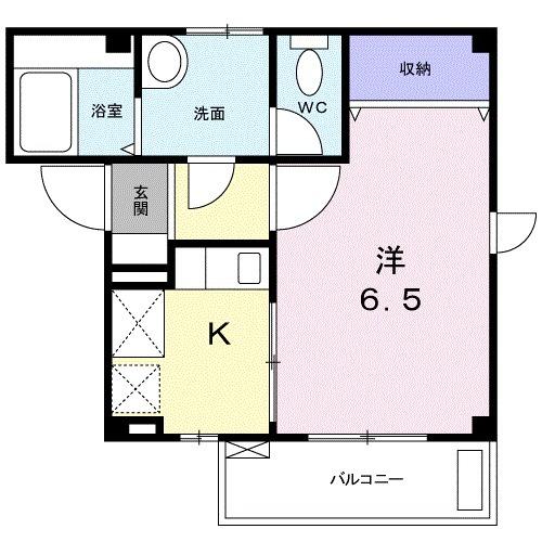 パークハウス 03020号室の間取り
