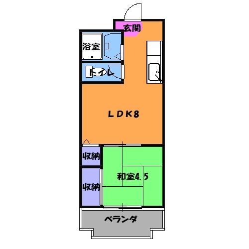 グレイス第3マンション 218号室の間取り
