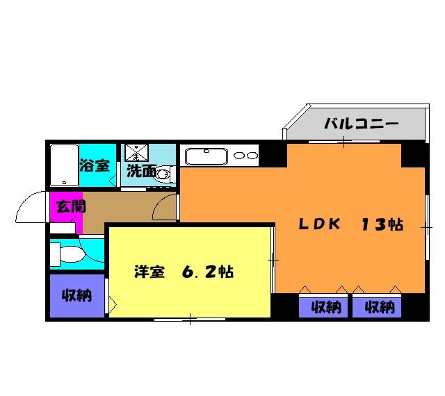 ソルトシティ浜松 305号室の間取り