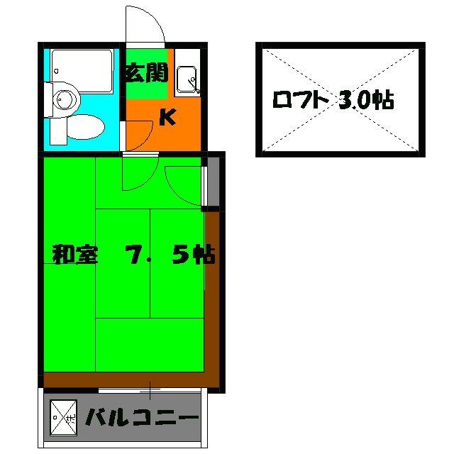 ヴィラ・ウィスタリア(加曽利町)・101号室の間取り