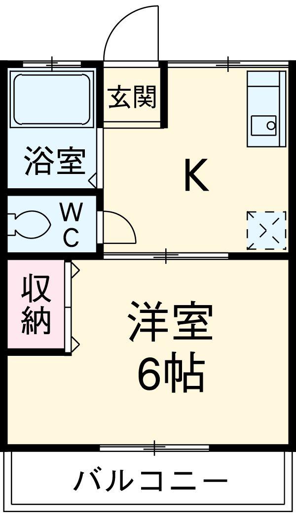ハイツITO 101号室の間取り