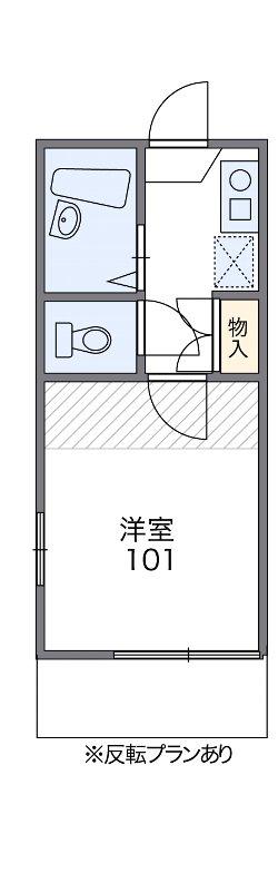 葵町レジデンス・102号室の間取り