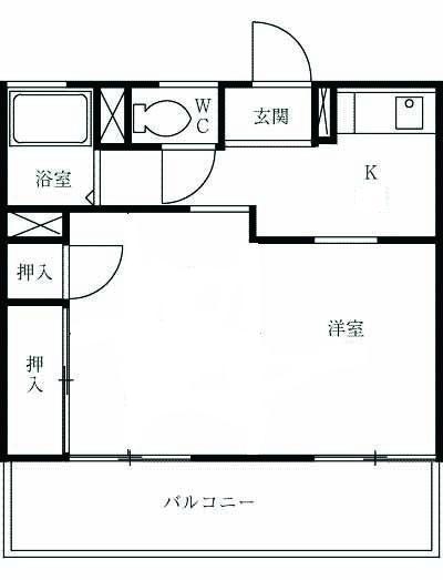 ハイツITO 102号室の間取り