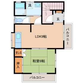 椎崎アパート・2号室の間取り