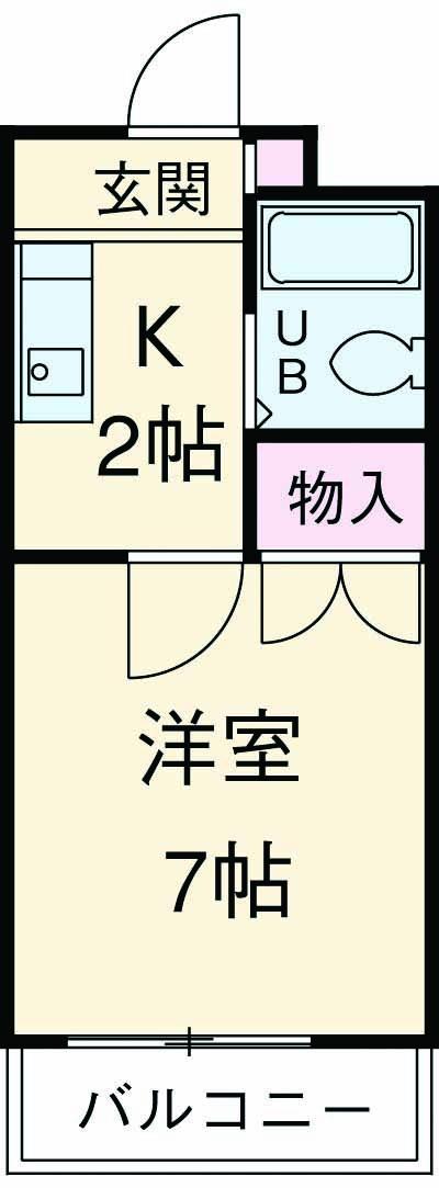 上島コモンコートD棟 203号室の間取り