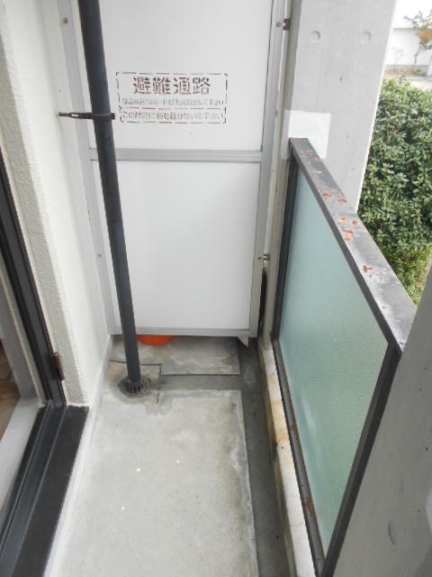 上島コモンコートD棟 203号室のバルコニー