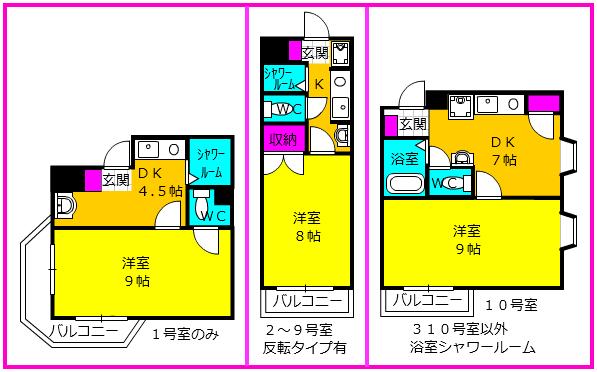 ライフ第3マンション・201号室の間取り