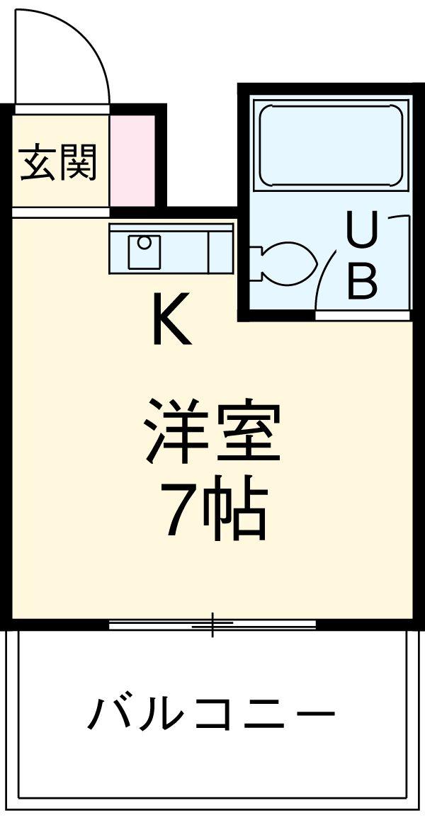 星ヶ丘第一ビル・7C号室の間取り