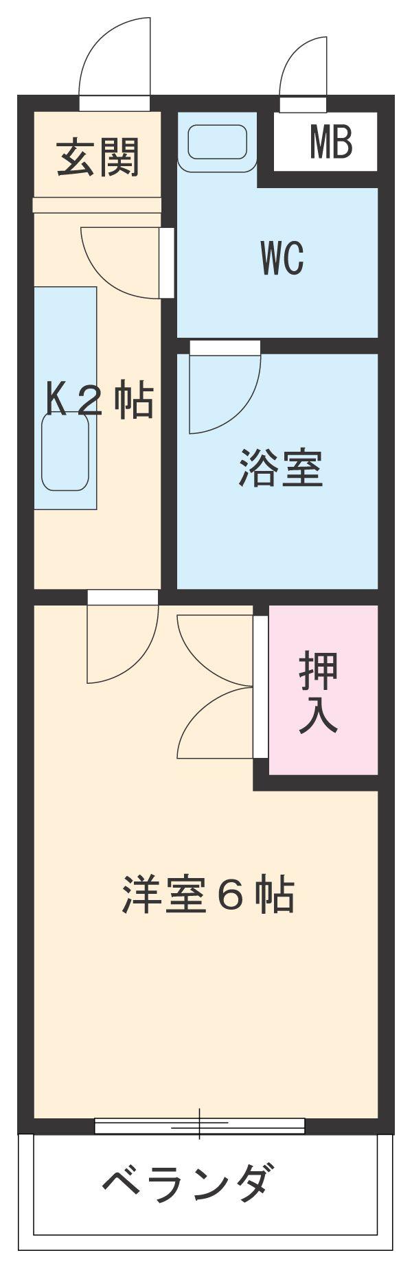 StudioRX中村公園・103号室の間取り