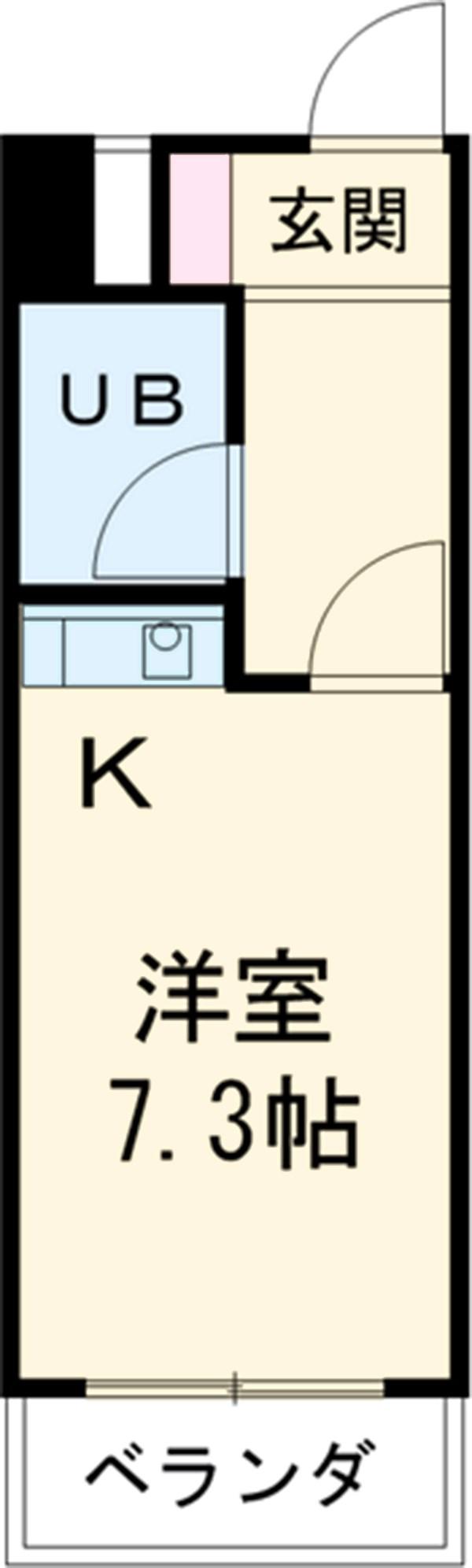 菱田ビル 403号室の間取り