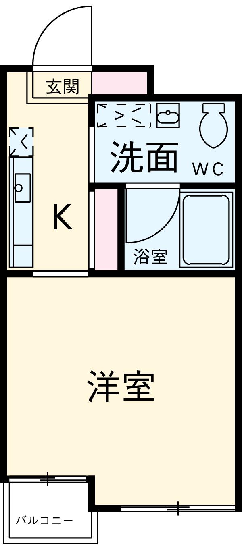 シャトーヨサミ・313号室の間取り