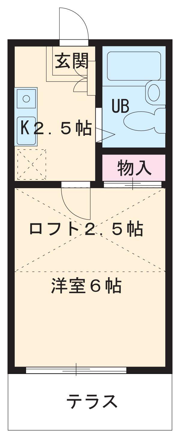 エクセル八田Ⅱ・103号室の間取り