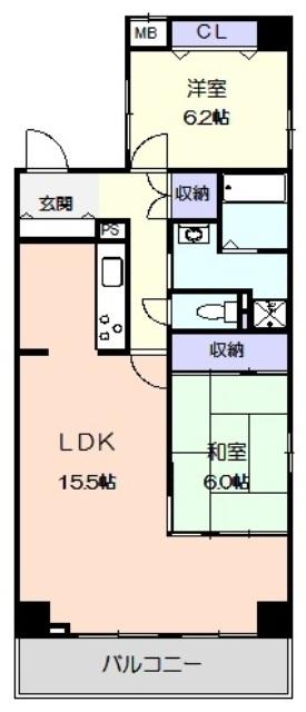 サンコーマンションⅡ・1305号室の間取り