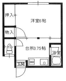 第二コーポ芝田・3号室の間取り