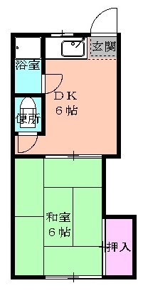 田代ハウス・B204号室の間取り