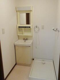 サンハウス1・2 A号室の洗面所