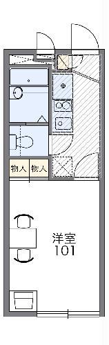 レオパレス昭徳Ⅱ 203号室の間取り