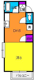 サンライフ高浜 2-B号室の間取り