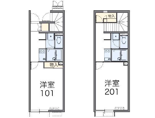 レオネクストチャコルル 104号室間取り図
