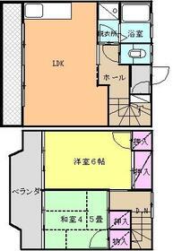 黒川コーポB・1号室の間取り