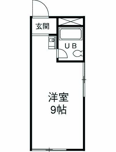 コーポ神田 302号室の間取り