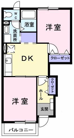 ピュア ミキ B・01010号室の間取り