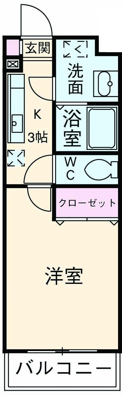ベルフロ-ラ神田 305号室の間取り