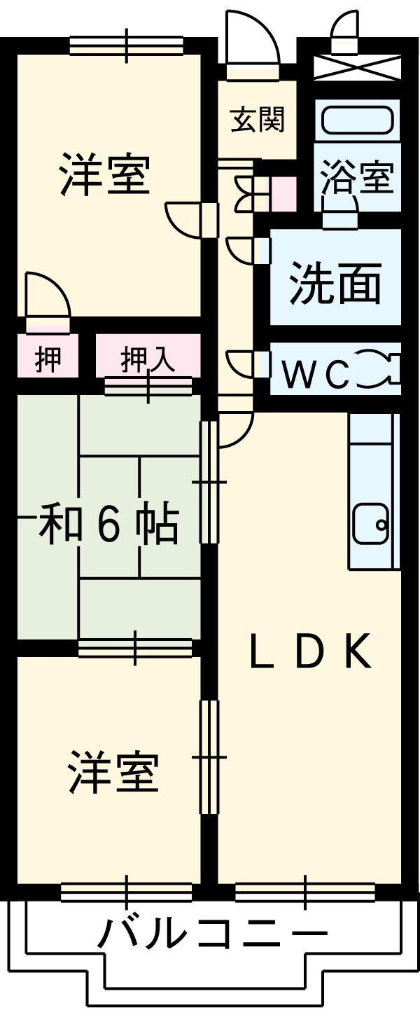 第2高杉マンション 103号室の間取り
