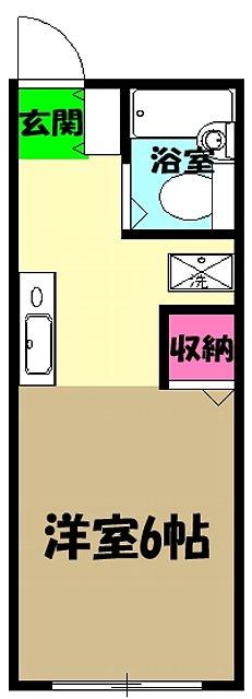 ユーコーポA棟 103号室の間取り