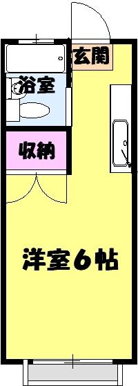 エステートピア岩崎台 203号室の間取り