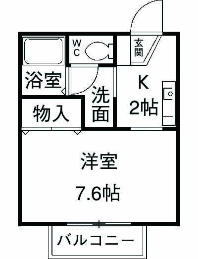 フローラNAKAJIMA 101号室の間取り