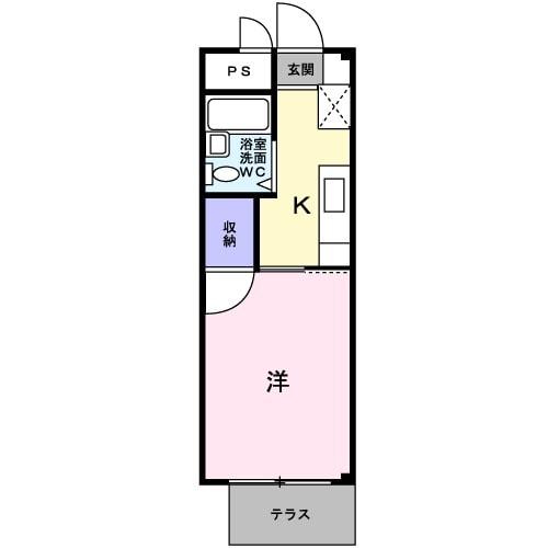 サンライフ前田・01050号室の間取り