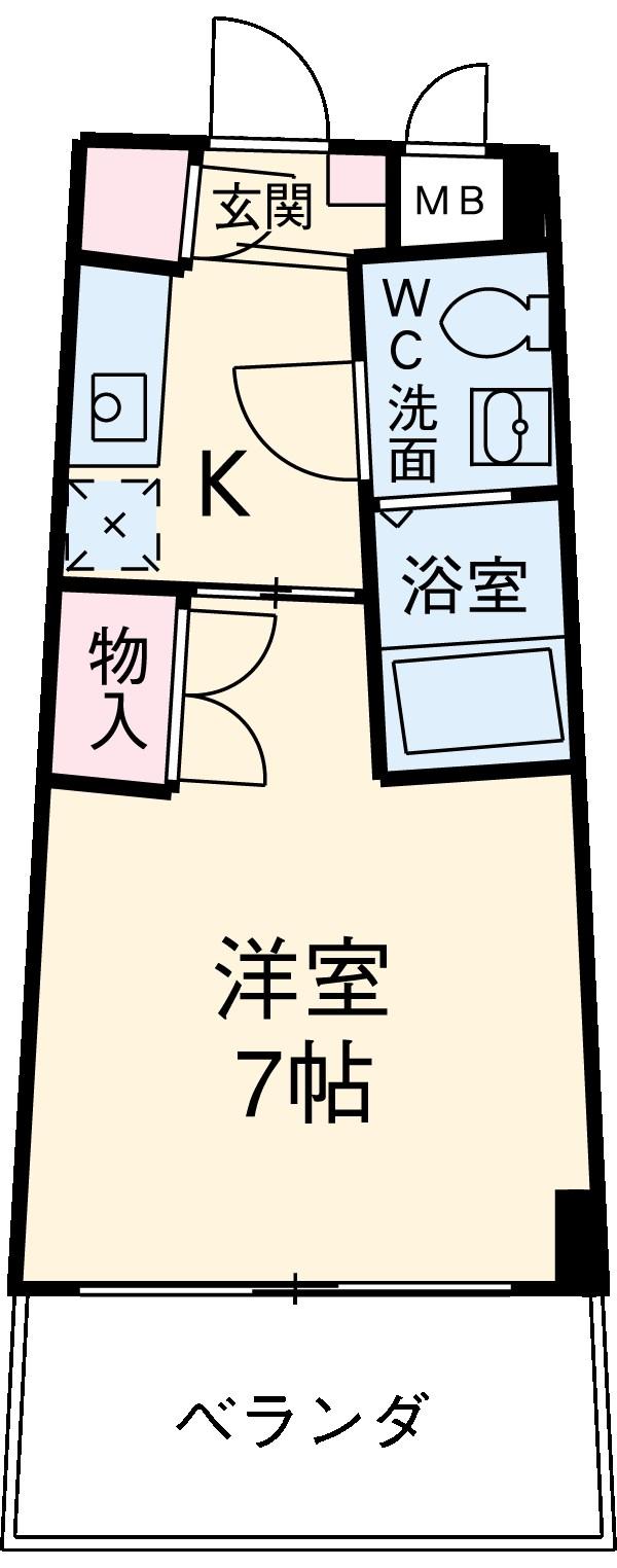 カーサヨサミ・108号室の間取り