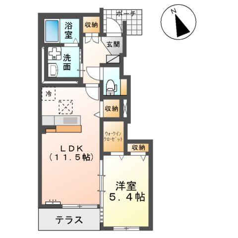 (仮称)大網白里市新築アパート 102号室の間取り