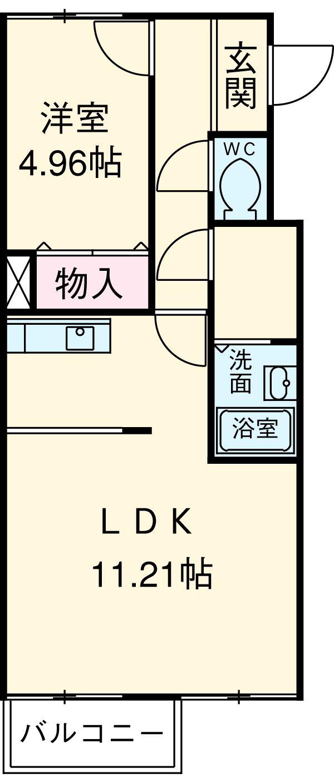 カムフォート登戸Ⅲ・103号室の間取り