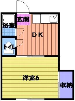 一福荘(東伊場) 8号室の間取り
